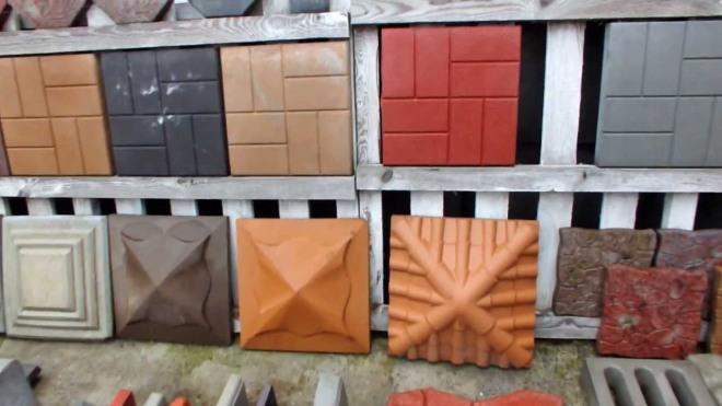 Колпаки из бетона различных цветов