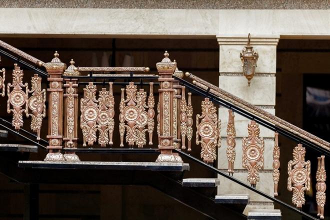 Литые ограждения для лестниц