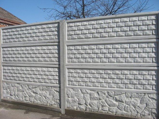 Секции забора из бетона