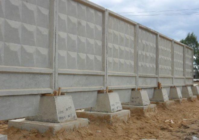 Забор бетонный самостоящий