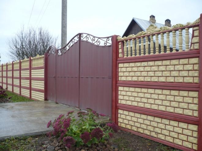 Сборный бетонный забор