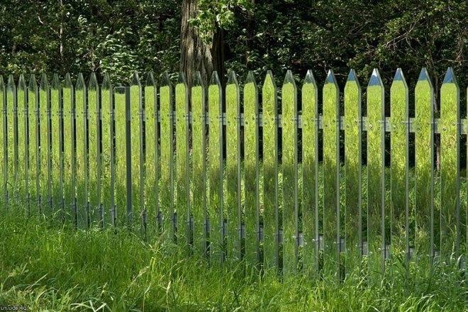 Зеркальный забор между соседними участками