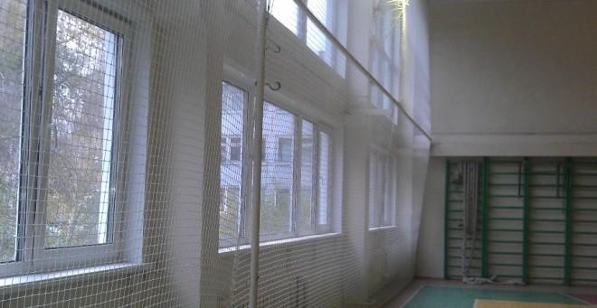 Заградительная сетка в спортзале