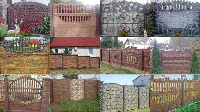Варианты декоративной покраски бетонных заборов