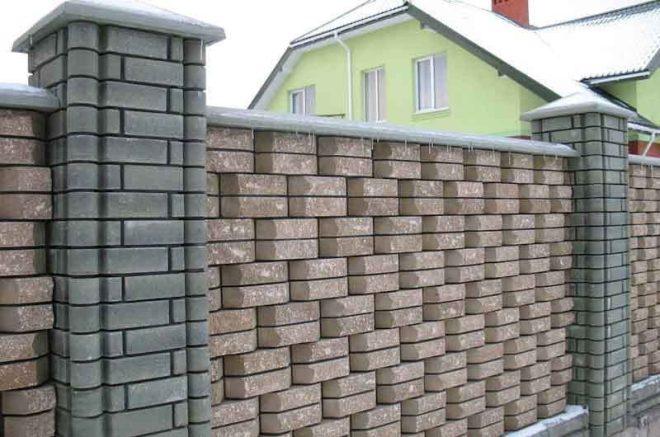 Декоративный кирпичный забор