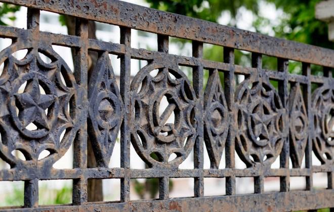 Литой чугунный забор для сада