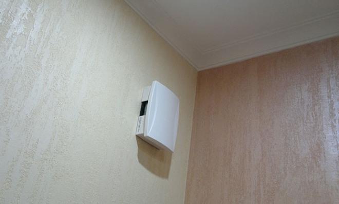Установленный звонок в квартире