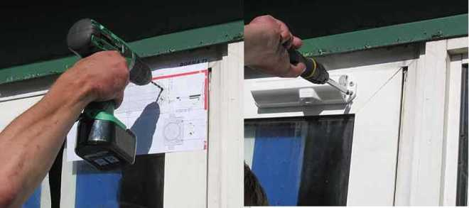 Применение шаблона для установки дверного доводчика