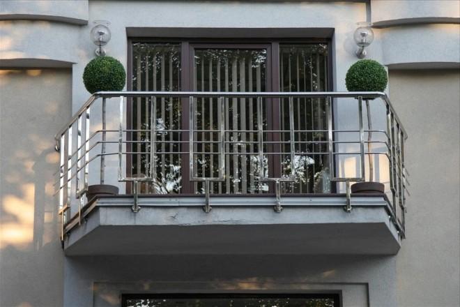 Балконные перила из нержавейки