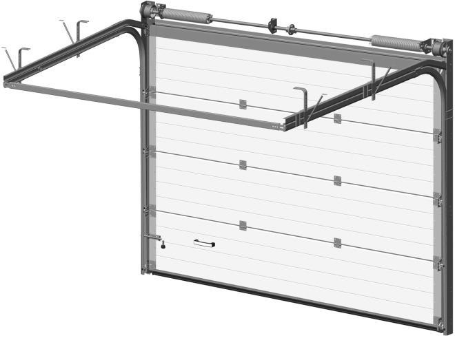 Конструкция подъемно-секционных ворот