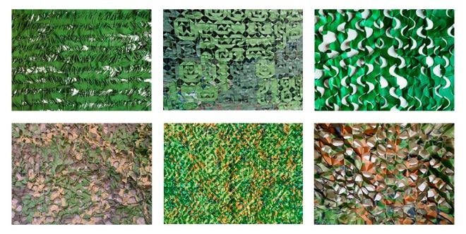 Разновидности маскировочных сеток