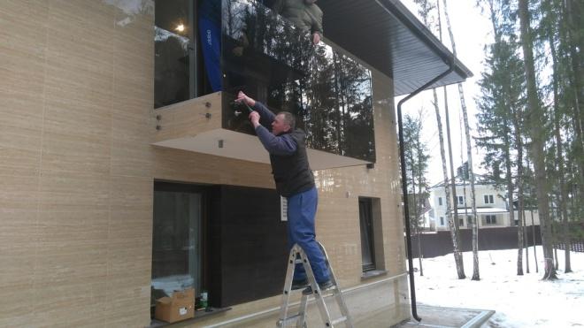Установка ограждения для балкона