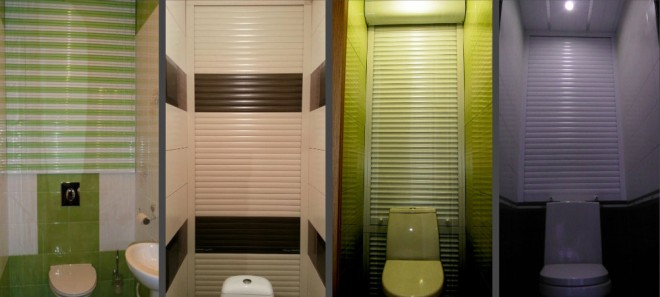 Цветовые гаммы рольставней в туалет
