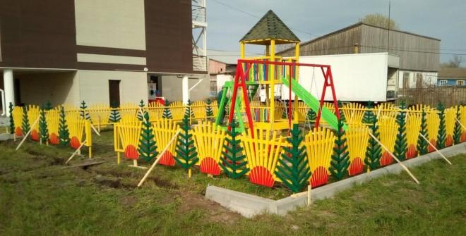 Красивое ограждение детских площадок