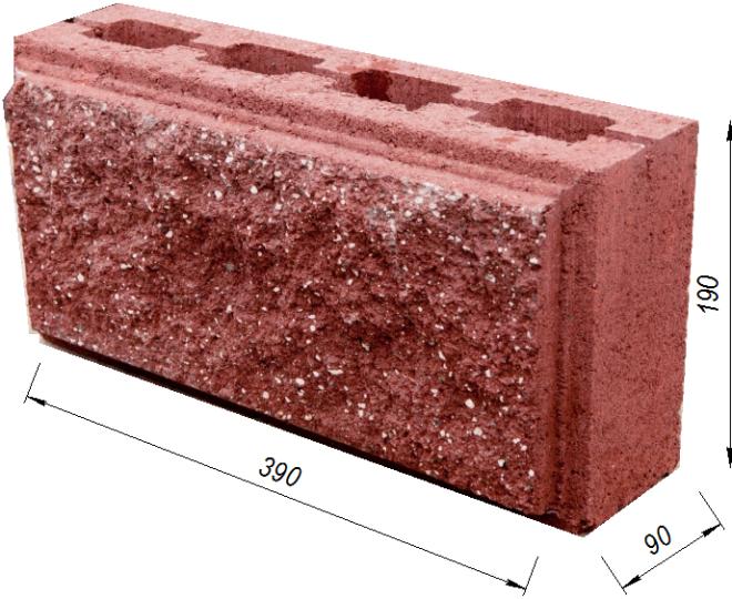 Блок под рваный камень