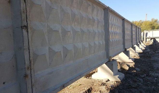 Забор из плит п6в