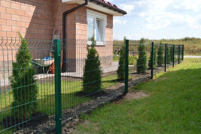 Забор со столбами без бетонирования