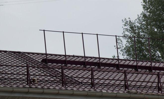 Леерное ограждение на крыше