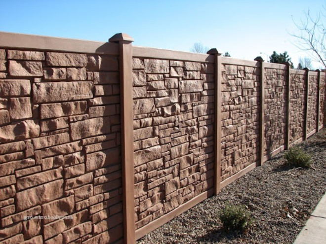 Забор железобетонный декоративный