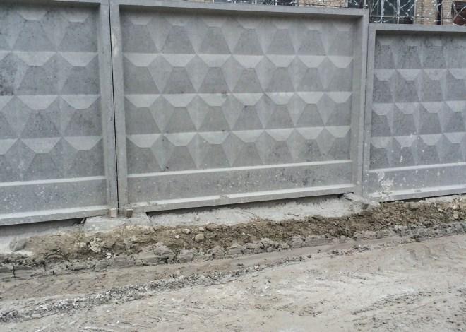 Панельный ЖБ-забор