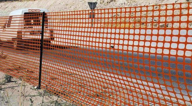 Оранжевая сетка пластиковая