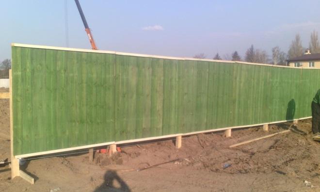 Защитный забор для стройплощадки