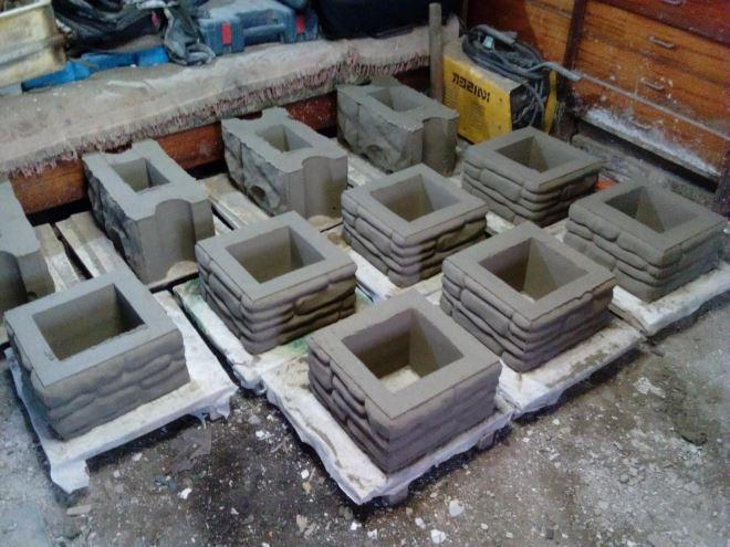 Бетонные блоки для столбов