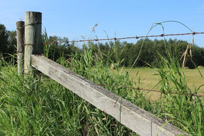 Установка проволоки на забор