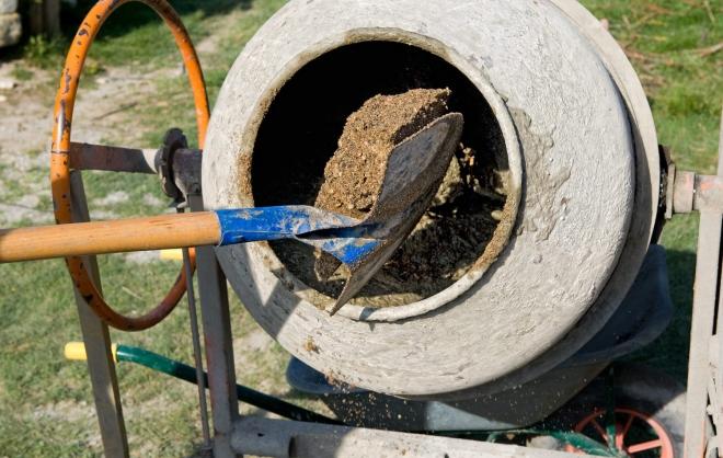Как приготовить раствор из бетона